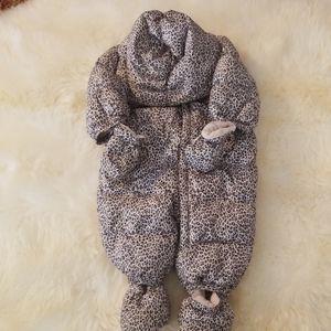 Leopard Print Snowsuit